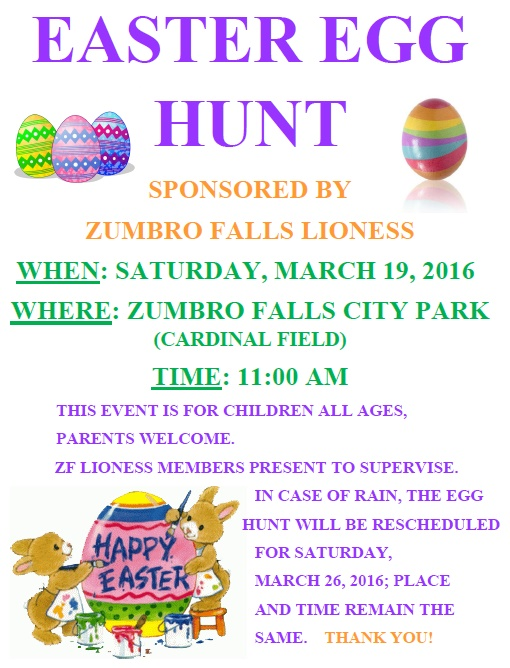 2016 Easter Egg Hunt | Zumbro Falls Minnesota