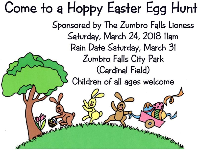 2018 Easter Egg Hunt March 24 at 11am