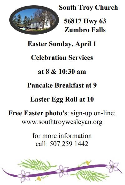 South Troy Church Easter Sunday Celebration
